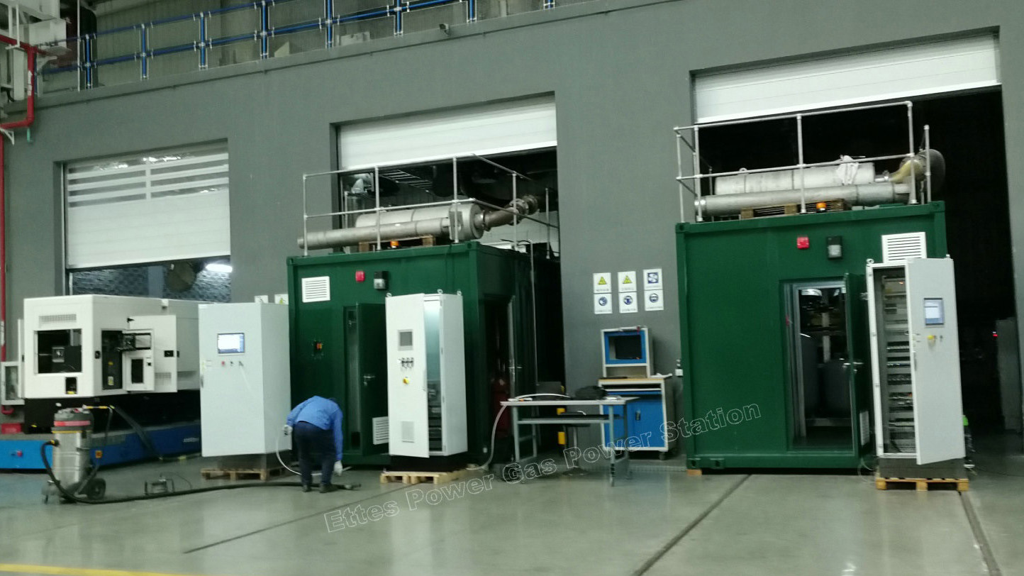 MAN & MWM Testing of ETTES POWER Container Natural Gas Biogas Engine Generator CHP ETTES POWER