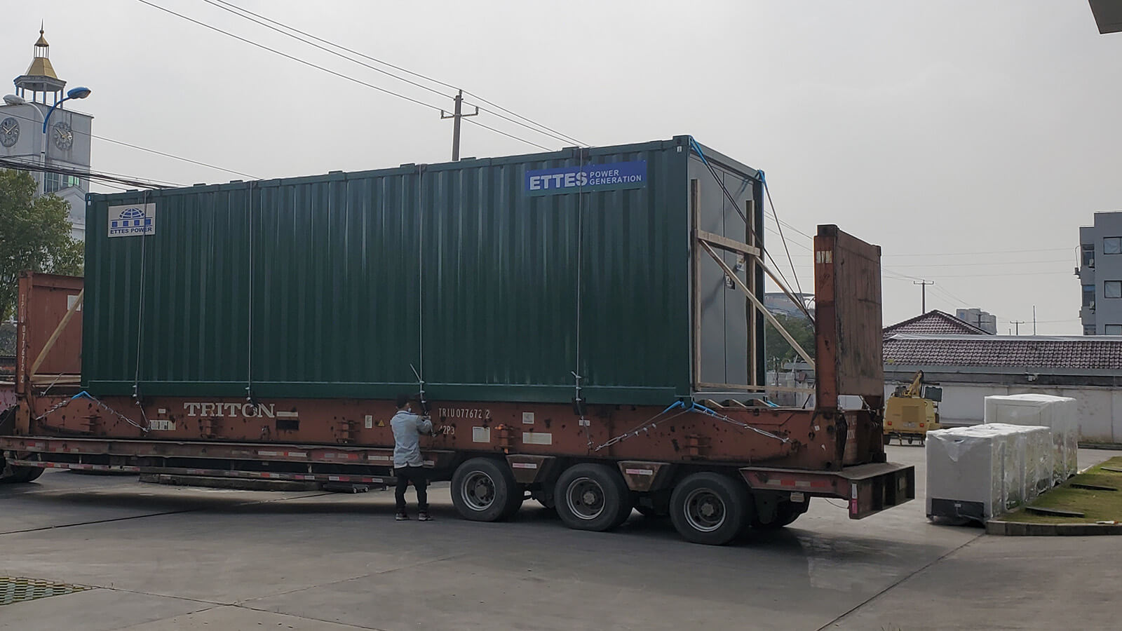 2X500kW Modular Containerized Cogenerations are Transported to Seaport ETTES POWER