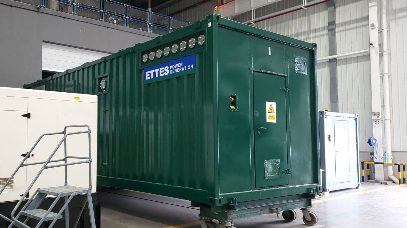 1MW 1000kW MAN Series Containerized Biogas Cogeneration ETTES POWER