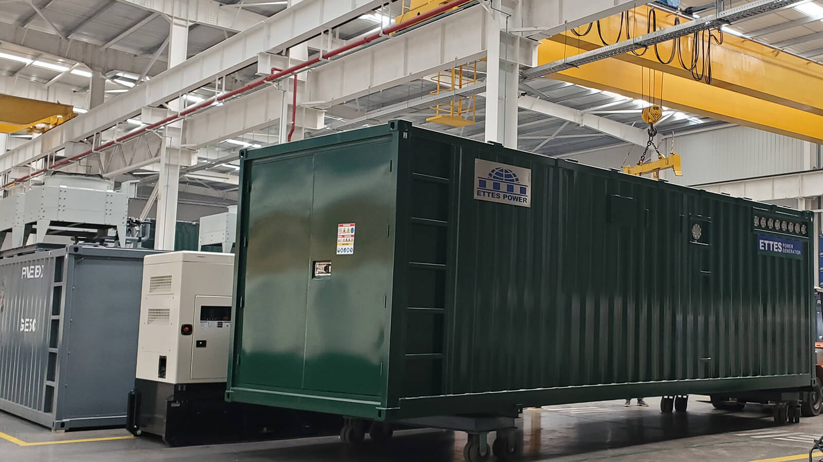 MAN 2X500kW MAN Series Containerized Biogas Cogeneration ETTES POWER