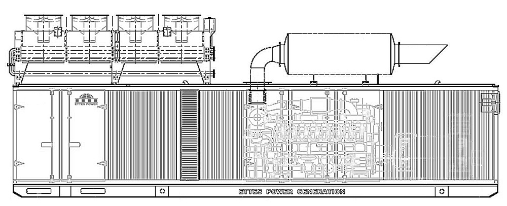 Ettes Power 500kw 1000kw 1mw 2mw natural gas engine generator set Ettespower