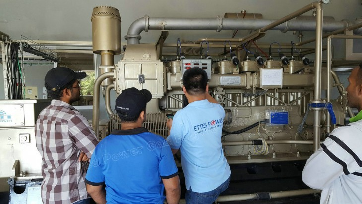 Ettes Power Commissioning of 500kW Digester Biogas Generator set in Dominica Republic Ettespower