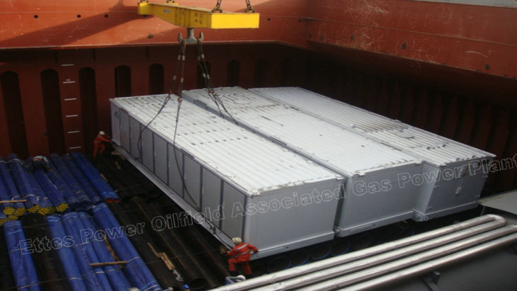 Ettes Power Group Shipment 1000kW 1MW Natural Gas Oilfield Gas Container Power Generation Ettespower