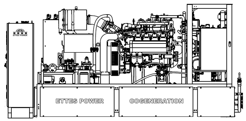 Ettes Power Cummins Natural Gas Engine Generator Set CHP Ettespower